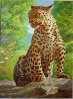 leopard - color by george-roth