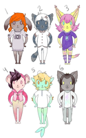 [closed] more anthro adopts by Frightling