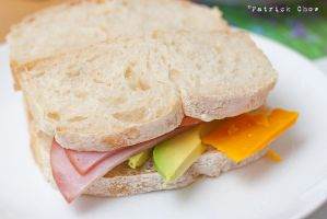 Ham and cheese sandwich by patchow