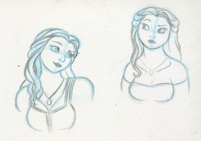 Belle sketches by RwoRomeo