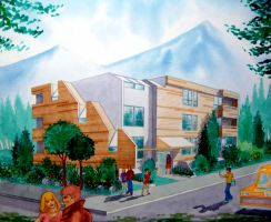1983 Architectural Rendering 1 by Frohickey