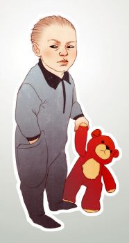 Stewie Griffin and Rupert by andrahilde
