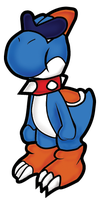 Paper Mario Style Boshi by Rage28