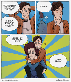 Doctor Who - Piggyback by Oelm