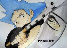 Black Star and Tsubaki Soul Eater by Pinoyshot95