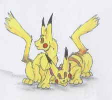AT-Pikachu and Pikla by Scatha-the-Worm