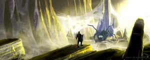 Cave Of The Spider God by xistenceimaginations