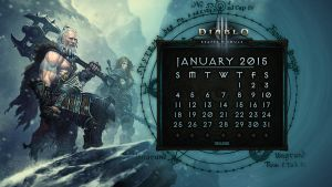 Calendar #7: January 2015 by Holyknight3000