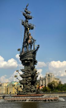 Peter the Great monument 1 - Moscow by wildplaces