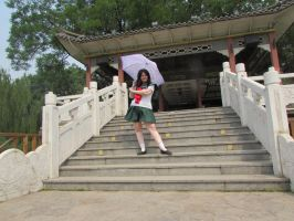 At the Temple Kagome by OhioErieCanalGirl