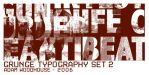 Grunge Typography set 2 by ardcor