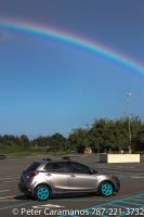 A Mazda 2 and a Rainbow by Caramanos2000