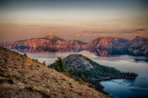 crater lake sunset, from watchman point by LuKaG2906