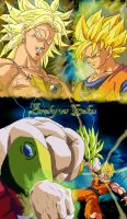 Dragon Ball Z: broly vs goku by l3nbak