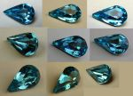 Blue Teardrop Gem Stock by Melyssah6-Stock