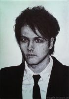 Gerard Way [pen drawing] by traiAgain