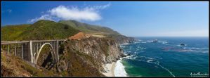 Bixby Bridge Panorama by AndrewShoemaker