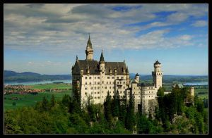 Neuschwanstein castle by mutrus