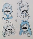 RWBY Movember 2013 by parttimedoodles