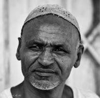 Old Man at the Market by mhmalali