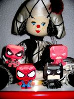 Superheroes Chibi Papercraft Papertoy Evil Clown by ValhallaAsgard