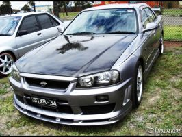 Nissan R-34 Skyline 2 of 2 by musicnation