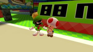 Marvin and Toad discussing by Aso-Designer