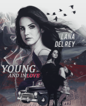 young and in love with lana del rey by OpulenceResources