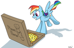 rainbow dash sniffs something delicious by RapidStrike