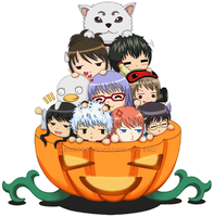 Gintama Pumpkin Treat by xuei0000