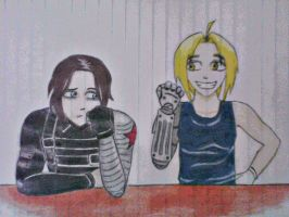 Winter Soldier and Edward Elric by Quest1onMark