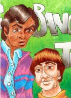 Big Bang Theory ATC Triptych - Raj and Howard by burning-thirteen