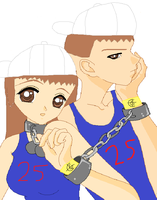 John and Junie Cena: Chain Gang is the Click. by RedTheHedgehog14