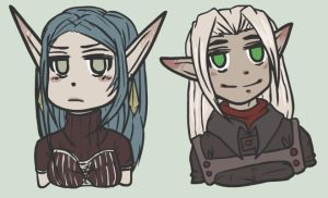 Vesta and Vyen Chibi by IrishMoo