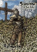 Scarecrow Frosted Clear Card Art - Tony Perna by Pernastudios