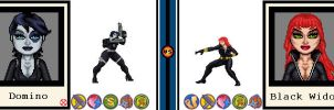 AvsX - Domino vs. Black Widow by GEEKINELL