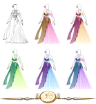 Outfit Design : Beautiful Princess colored version by JessyB-Design