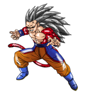 Goku True SSJ4 Render (Without Electricity) by Nassif9000