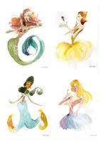 Disney Princesses by Ebae