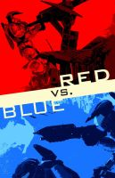 Red vs. Blue poster by Marathon-GTi