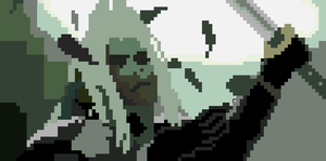 Pixelated Sephiroth by TheDizzyDan
