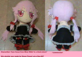 Black dress Yuno Gasai plushie by Hao-007