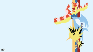Legendary Birds (Pokemon) Minimalist Wallpaper by slezzy7