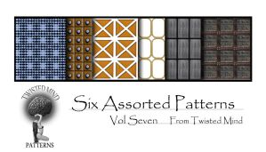 Twisted Mind Six Assorted Patterns vol Seven by Textures-and-More