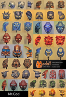 Kanohi Collage 7 by MrCod
