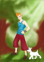 Tintin and Milou by Alex-Goncalves