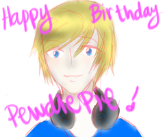 HBD Pewdiepie by MakiLoveCrysis