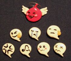 Raganrok: Emoticon pins by Gimmeswords