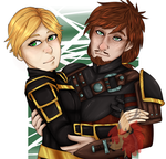 [HTTYD/RTTE] Chief and Queen by Faarao-Jeba