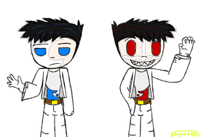 Fast Doodle: How i see M. and C. as humans by Master-0f-Puppets